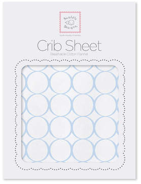 Swaddle Designs Mod Circles Cotton Fitted Crib Sheet