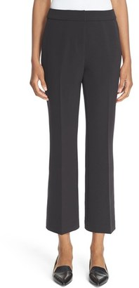 Women's Kate Spade New York Flare Leg Crepe Crop Pants $228 thestylecure.com