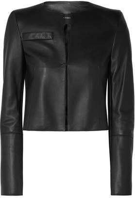 Akris Hasso Cropped Leather Jacket - Black