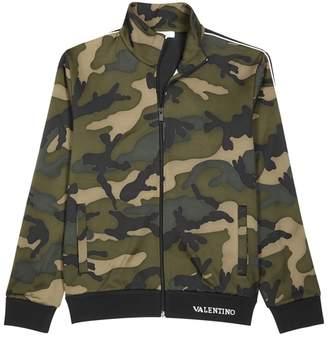 Valentino Camouflage-print And Black Jersey Sweatshirt