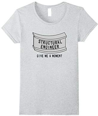 Womens Structural Engineer Beam Moment Funny Engineering T-Shirt XL