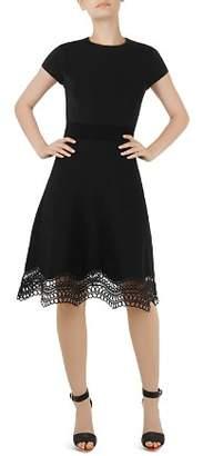 Ted Baker Ellijo Lace-Trimmed Dress