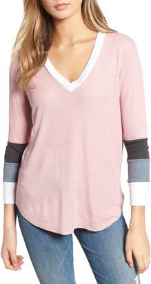 Wildfox Couture Leroy Colorblock Thermal Tee