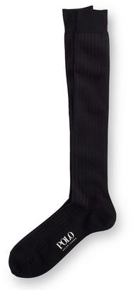 Ralph Lauren Solid Rib Over the Calf Socks