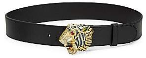Gucci Women's Tiger Buckle Leather Belt