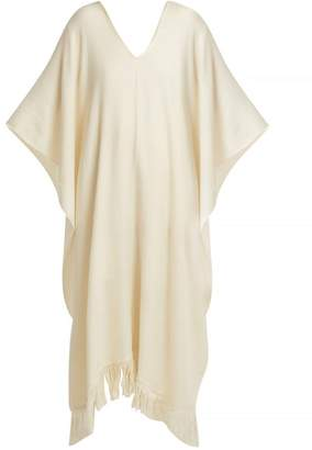Roche Ryan Fringe Trimmed Cashmere Poncho - Womens - Ivory