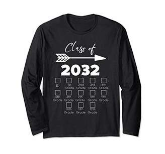 with me. Class of 2032 Grow Shirt With Space For Checkmarks Long Sleeve T-Shirt