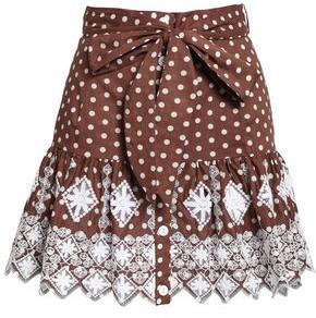 Miguelina Polka-dot Broderie Anglaise Cotton Mini Skirt