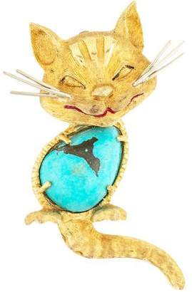 Cartier Turquoise Cat Brooch