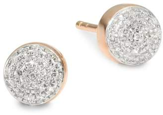 Monica Vinader Fiji Mini Button Diamond Studs