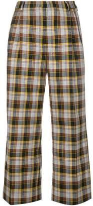 Miu Miu cropped plaid trousers