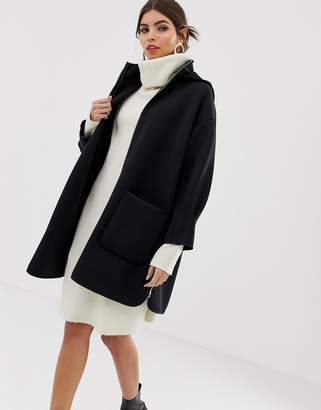 Max & Co. neoprene hooded coat