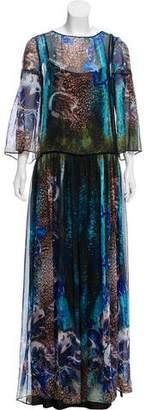 Alberta Ferretti Printed Maxi Dress w/ Tags