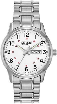JCPenney Citizen Quartz Citizen Mens Easy Reader Silver-Tone Expansion Strap Watch BF0610-91A