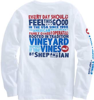 Vineyard Vines Boys Long-Sleeve Story Pocket T-Shirt