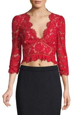 Saylor V-Neck Lace Top