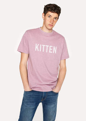 Paul Smith Ps R.E.M. + Pink Marl 'Kitten' Print T-Shirt