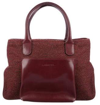 Lancel Leather-Trimmed Shoulder Bag