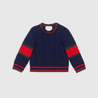 Gucci Baby cable knit wool jumper