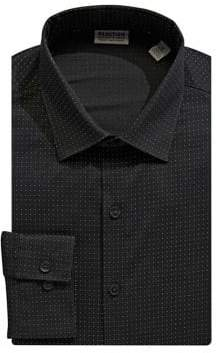 Kenneth Cole Reaction Slim-Fit Printed Cotton Dress Shirt
