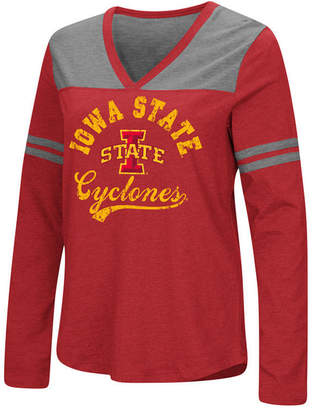 Colosseum Women Iowa State Cyclones Dual Blend Long Sleeve T-Shirt