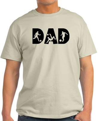 Ash CafePress - Soccer DAD Grey T-Shirt - 100% Cotton T-Shirt