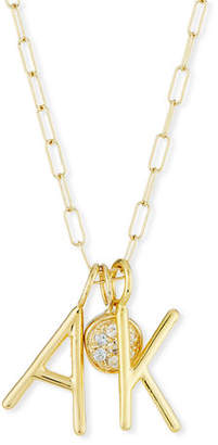 Sarah Chloe Amelia Layered Initial Necklace with Diamonds
