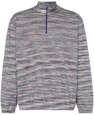 Missoni Zip-up cotton roll-neck sweater