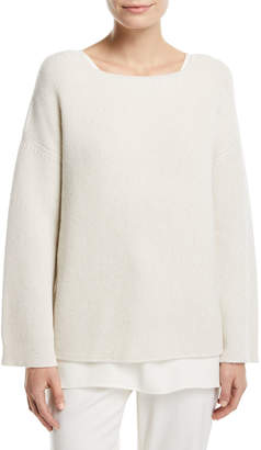 Lafayette 148 New York Cashmere Textured Stitch Sweater