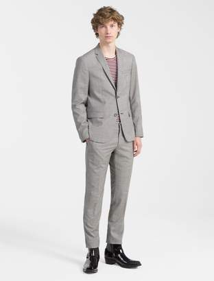 Calvin Klein slim fit houndstooth check suit