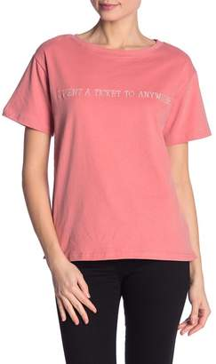 Dee Elly Ticket to Anywhere Embroidered Tee