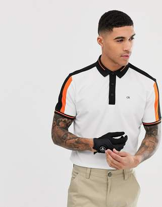 Calvin Klein Golf Aerospan polo in white