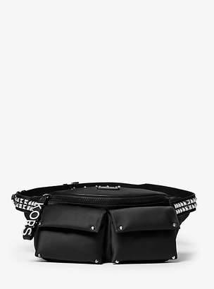 b1c27677d911 Michael Kors Olivia Large Studded Satin Belt Bag