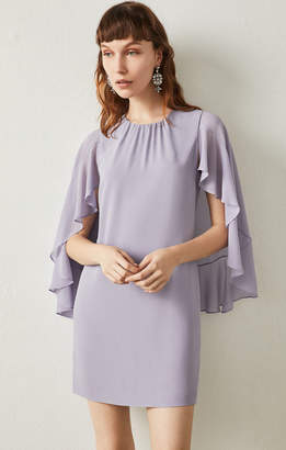BCBGMAXAZRIA Cape Sleeve A-Line Dress