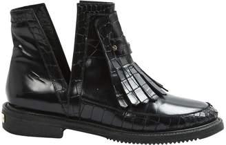 Aperlaï Leather Ankle Boots