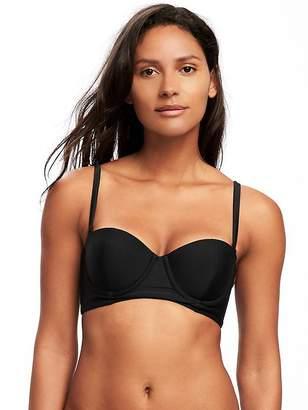 Old Navy Underwire Long-Line Balconette Bikini Top for Women