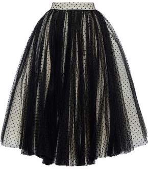 Philosophy di Lorenzo Serafini Flared Flocked Tulle Maxi Skirt