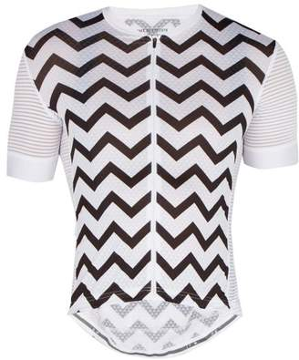 Café Du Cycliste Cafe Du Cycliste - Micheline Zigzag Print Cycle Top - Mens - Black White