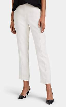 Lanvin Women's Crêpe De Chine Slim Crop Trousers - Cream