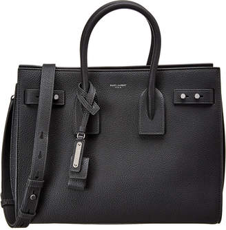 Saint Laurent Yves  Small Sac De Jour Leather Tote