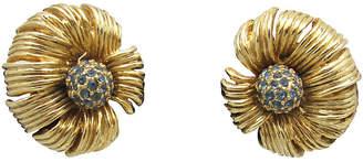 One Kings Lane Vintage Articulated Goldtone Flower Earrings