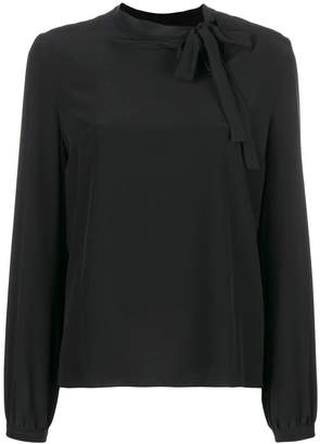 Rochas bow tied long-sleeve blouse