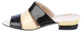 Salvatore Ferragamo Patent Slide Sandals
