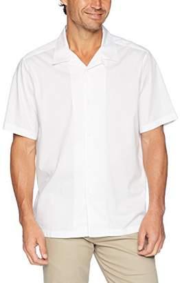 Perry Ellis Men's Short Sleeve Camp-Collar Shirt