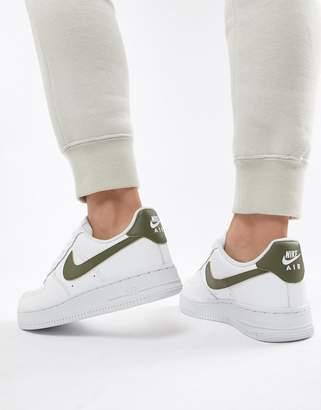 Nike White And khaki Air Force 1 '07 Sneakers