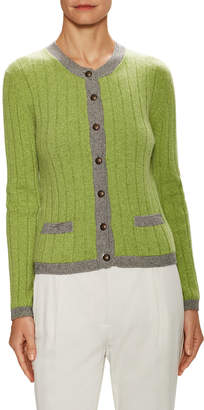 Chanel Cashmere Colorblocked Cardigan