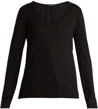 The Row Baxerton scoop-neck long-sleeved T-shirt