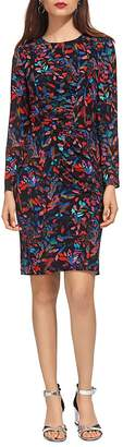 Whistles Maria Mari Printed Silk Dress
