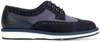 Santoni brogue lace-up shoes