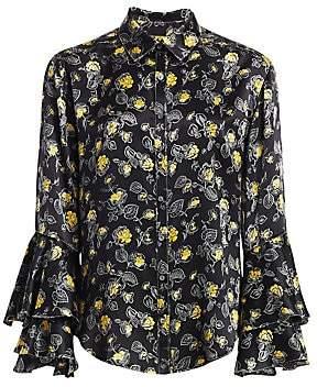 Cinq à Sept Women's Kirby Silk Ruffle Shirt